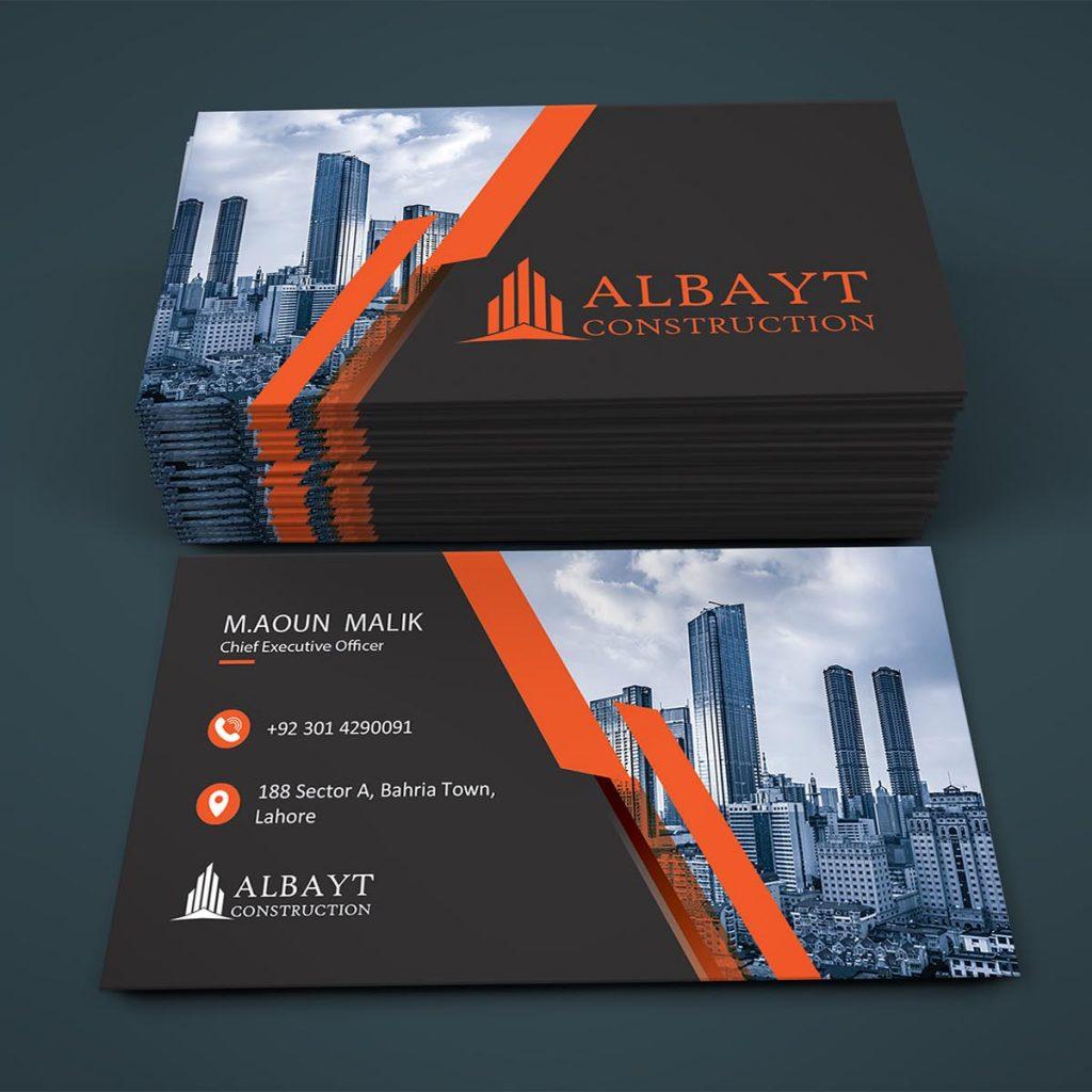 Albayt Construction Business Card